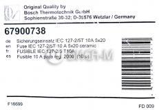 Плавкая вставка предохранителя IEC 127-2/5T